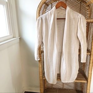 Anthropologie Sparrow Ivory Open Front Cardigan✨